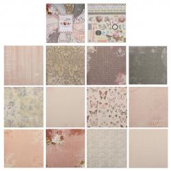 Бумага для скрапбукинга 30*30см, 24л, 12 цветов, элементы декоративные КОКОС 184297-PS020