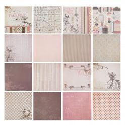 Бумага для скрапбукинга 30*30см, 24л, 12 цветов, элементы декоративные КОКОС 184299-PS009