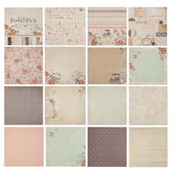 Бумага для скрапбукинга 30*30см, 24л, 12 цветов, элементы декоративные КОКОС 184305-PS010
