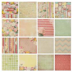 Бумага для скрапбукинга 30*30см, 24л, 12 цветов, элементы декоративные КОКОС 184307-PS008