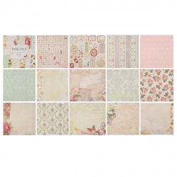 Бумага для скрапбукинга 30*30см, 24л, 12 цветов, элементы декоративные КОКОС 184308-PS017