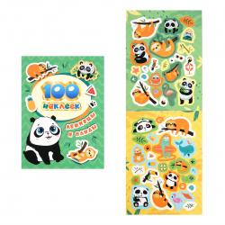 Наклейки 100шт РОСМЭН Ленивцы и панды глянц лам 38092
