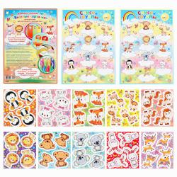 Наклейки бумага, для детского сада Мир открыток 8-10-012А