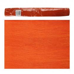 Бумага крепированная 50*250 32г/м КОКОС 0616S012/25 флорист тем оранж