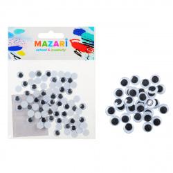 Глазки декоративные d-8мм 80 шт Mazari M-4320