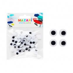Глазки декоративные d-10мм 60 шт Mazari M-4321