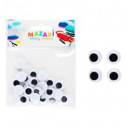 Глазки декоративные d-15мм 30 шт Mazari M-4323