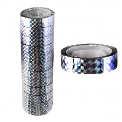 Лента декоративная клейкая 12мм*15м J.Otten Серебро ПВХ 5523/95599