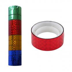 Лента декоративная клейкая 15мм*3м J.Otten Голография ПВХ 33527/2880 ассорти