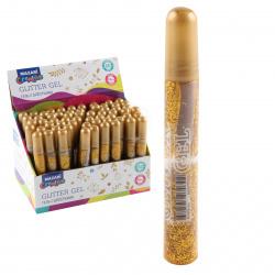 Гель с блестками 10мл, цвет золото, туба Mazari M-5650-зол