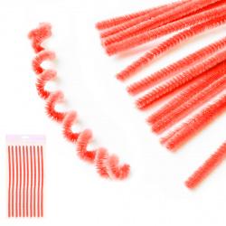 Проволока декоративная Шенил 30см 10шт КОКОС 200414 оранжевый