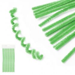 Проволока декоративная Шенил 30см 10шт КОКОС 200416 зеленый
