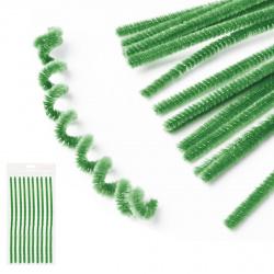 Проволока декоративная Шенил 30см 10шт КОКОС 200417 темно-зеленый