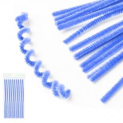 Проволока декоративная Шенил 30см 10шт КОКОС 200420 синий