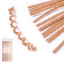 Проволока декоративная Шенил 30см 10шт КОКОС 200421 коричневый