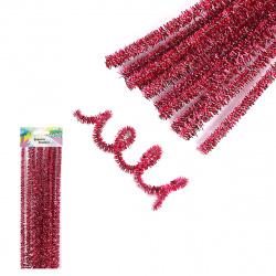 Проволока декоративная Шенил 30см 10шт КОКОС Блестящая 200426 фиолетовый