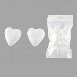 Пенопластовая заготовка Сердце d-40мм 8шт КОКОС 180502/437