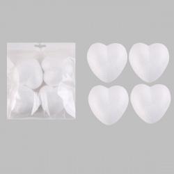 Пенопластовая заготовка Сердце d-85мм 4шт КОКОС 180504/437