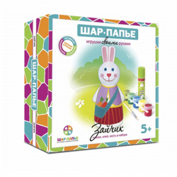 Набор для росписи папье-маше Зайчик картон B01591
