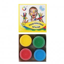 Краски пальчиковые 4 цвета, 40мл, смываемые, картонная коробка Экспоприбор 8079600