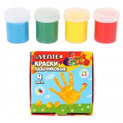 Краски пальчиковые 4 цвета 40мл deVENTE картонная коробка 8079706