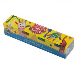 Краски пальчиковые 4 цвета 100мл Erich Krause Artberry с Алоэ Вера картонная коробка 41753
