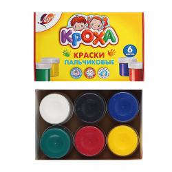Краски пальчиковые 6 цветов 40мл Луч Кроха картонная коробка 24С 1508-08