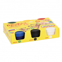 Краски пальчиковые 6 цветов 60мл Каляка-Маляка 3+ картонная коробка ПККМ06
