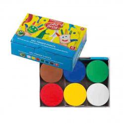 Краски пальчиковые 6 цветов 100мл Erich Krause Artberry с Алоэ Вера картонная коробка 41754