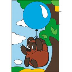 Картина по номерам 100*150мм, холст, на подрамнике Винни Пух Союзмультфильм Рыжий кот Х-5460