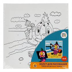 Картина по номерам 15*15 Рыжий кот Союзмультфильм Возвращение блудного попугая холст на подрамнике Х-5445