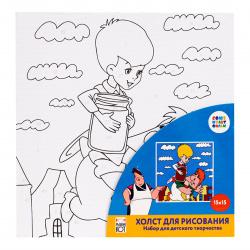 Картина по номерам 15*15 Рыжий кот Союзмультфильм Карлсон холст на подрамнике Х-5451