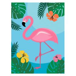 Картина по номерам 15*20 КОКОС Фламинго холст на подрамнике 200763