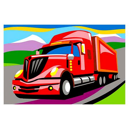 Картина по номерам 20*29 Lori Американский грузовик холст ...