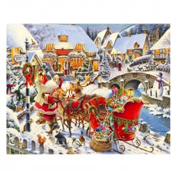 Картина по номерам 300*400мм, картон, без подрамника Санта-Клаус Color Kit KS015