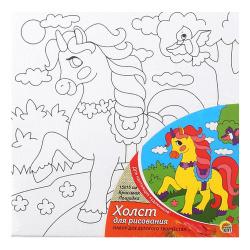 Картина на холсте 15*15 Рыжий кот Красивая лошадка на подрамнике Х-9366