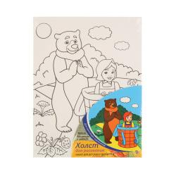 Картина на холсте 180*240мм, холст, 3+ Маша и медведь Рыжий кот Х-9827