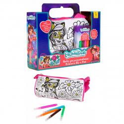 Набор для рисования фломастерами 5 цветов 9*20см РОСМЭН сумка Энчантималс Фелисити Лис и Флик 36914