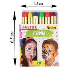 Грим для лица и тела 6 цветов Мелки неон deVENTE 8078724