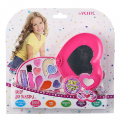 Набор для макияжа deVENTE (блеск помада зеркало кисточка) 8080905