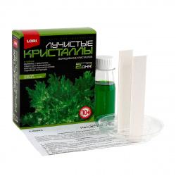 Набор для выращивания кристаллов Lori Лучистый Зеленый от 10 лет Лк-003