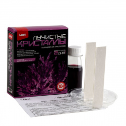 Набор для выращивания кристаллов Lori Лучистый Фиолетовый от 10 лет Лк-007