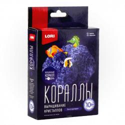 Набор для выращивания кристаллов Lori Кораллы Фиолетовый  от 10 лет Крк-002