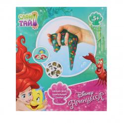 Набор для изготовления слайма 1TOY Слайм Тайм Disney Ариель блестки от 5 лет Т14290