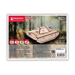 Конструктор деревянный сборная модель REZARK Танк TAR-01