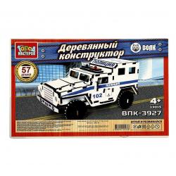 Конструктор деревянный сборная модель Рыжий кот Робот МД-0497