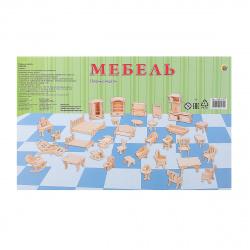 Конструктор деревянный сборная модель Рыжий кот Мебель МД-8472