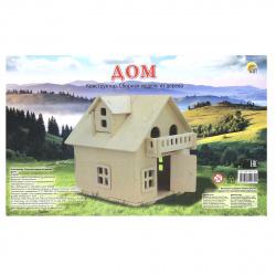 Конструктор деревянный сборная модель Рыжий кот 2 BIG Дом СМ-1007-А4