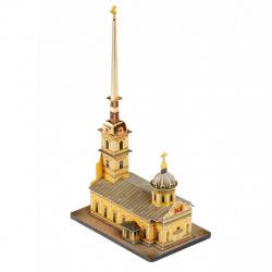 Конструктор картонный 3D Умная бумага Петербург на ладони Петропавловский собор 558
