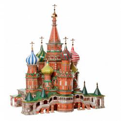 Конструктор картонный 3D Умная бумага Архитектурные памятники Масштаб 1/150 Собор Василия Блаженного 195